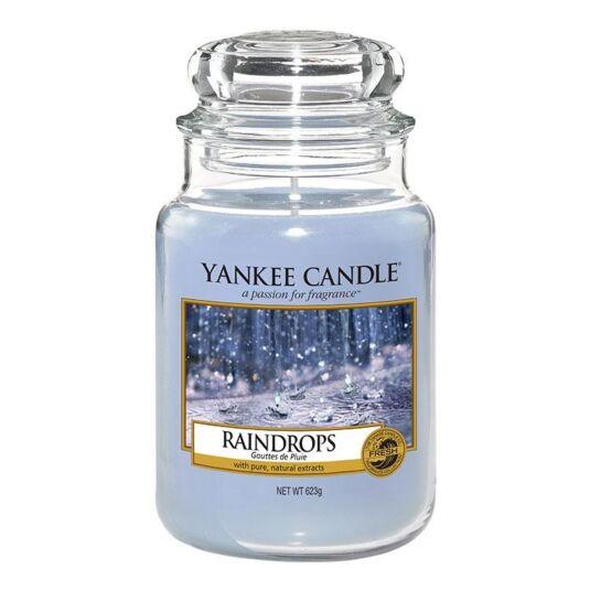Raindrops Large Jar Candle