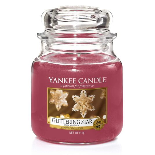 Glittering Star Medium Jar Candle