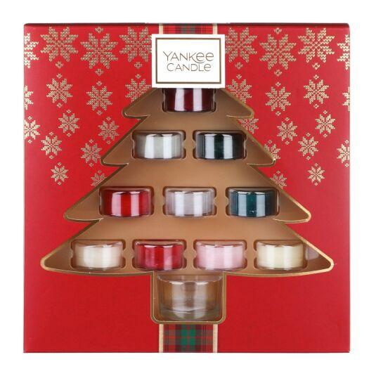 Alpine Christmas Ten Tealights and Holder Gift Set