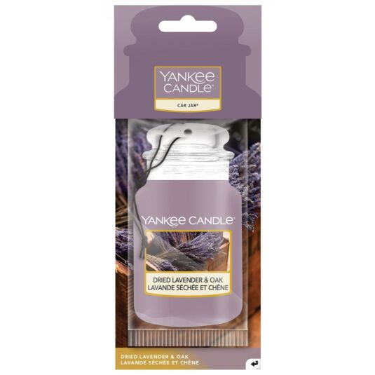 Dried Lavender & Oak Car Jar Air Freshener