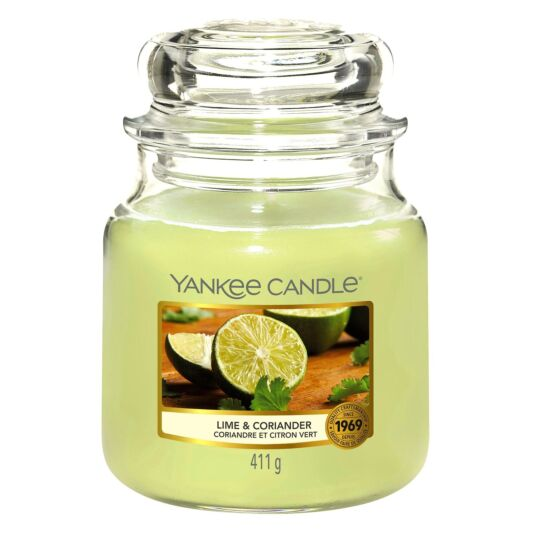 Lime & Coriander Medium Jar Candle