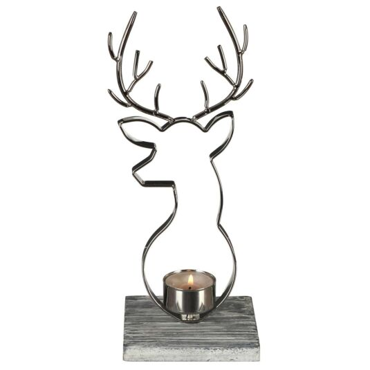Nordic Stag Tealight Holder