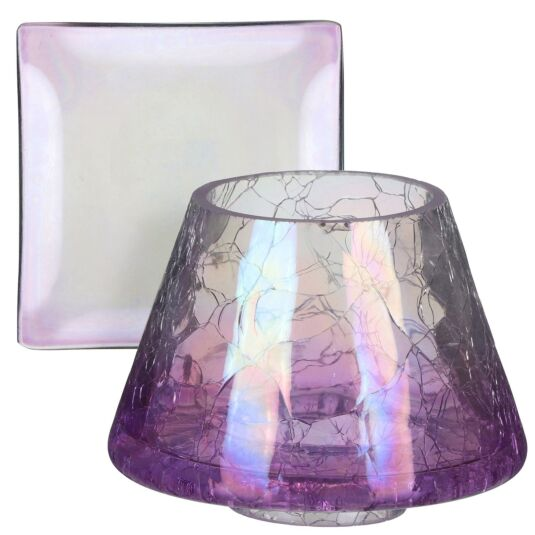Savoy Purple Crackle Small Shade & Tray