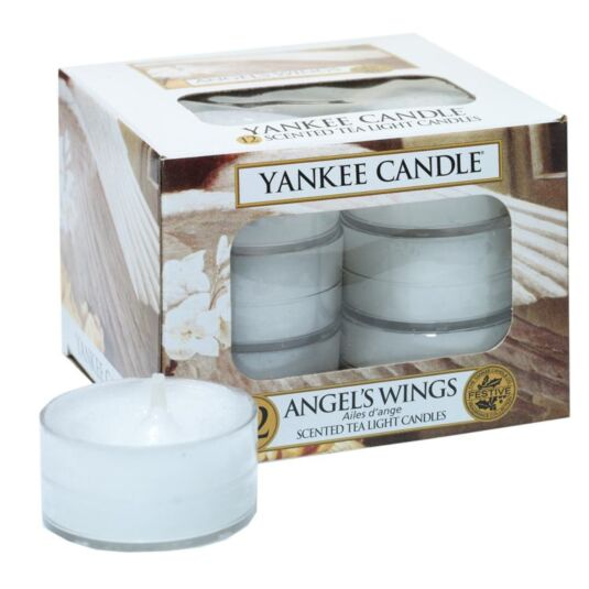 Angel's Wings Pack of 12 Tealights