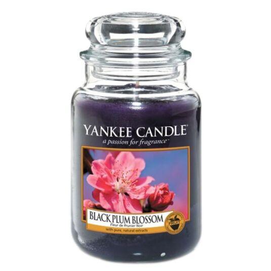 Black Plum Blossom Large Jar Candle