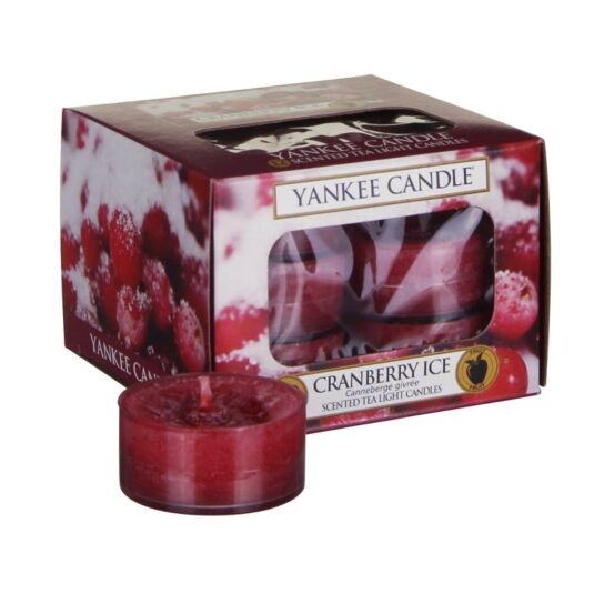 Cranberry Ice Pack of 12 Tealights