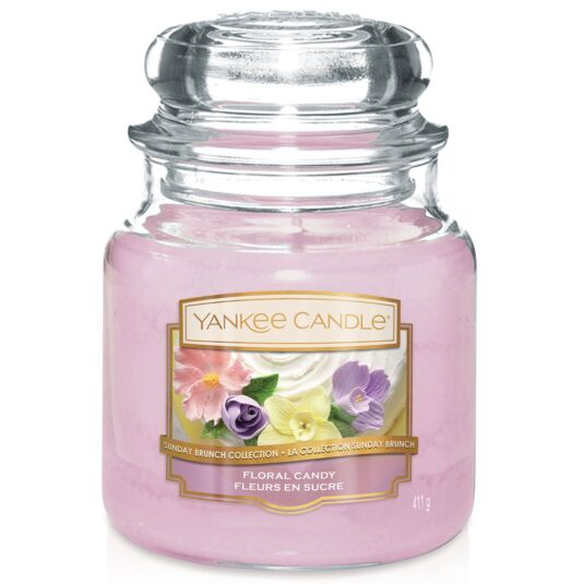 Sunday Brunch Floral Candy Medium Jar Candle