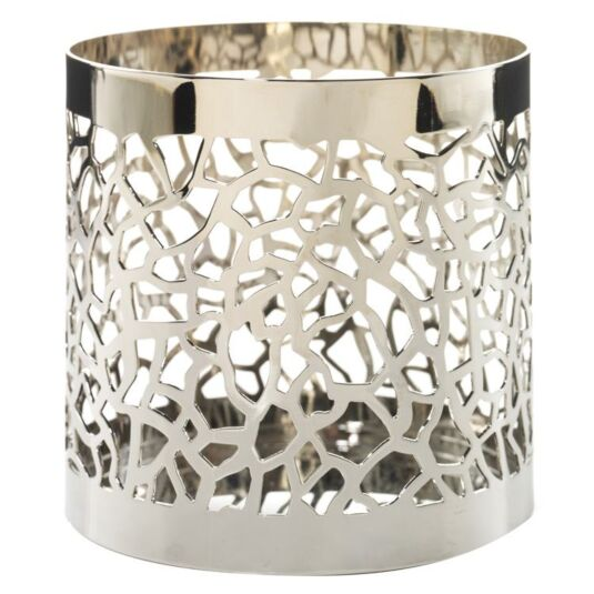 Matrix Brushed Silver Jar Candle Holder