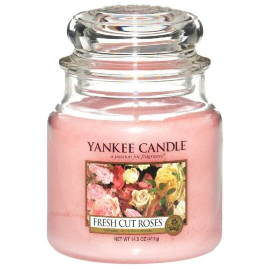 Fresh Cut Roses Medium Jar Candle