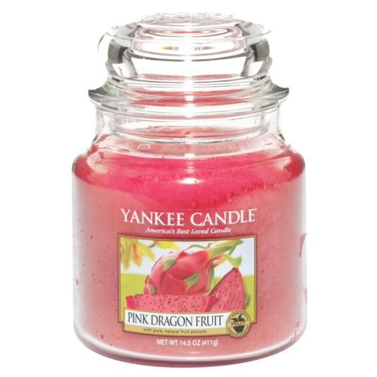 Pink Dragon Fruit Medium Jar Candle