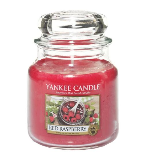Red Raspberry Medium Jar Candle