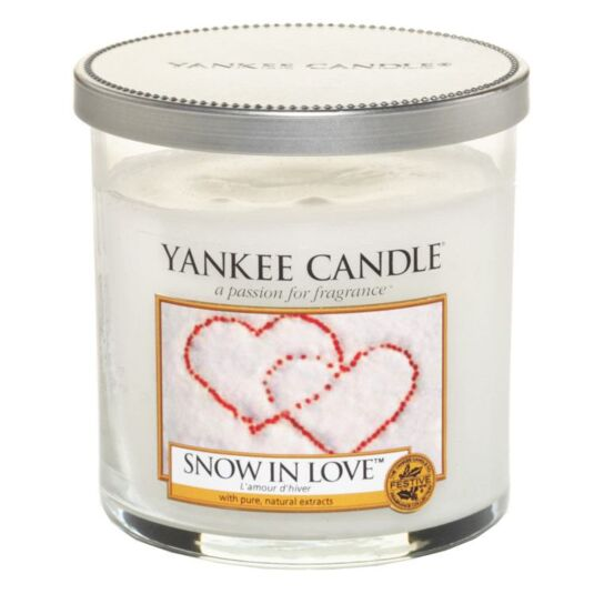 Snow In Love Décor Small Pillar Candle