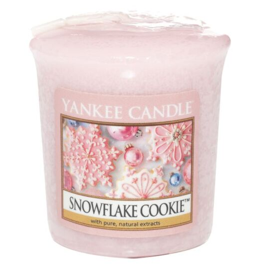 Snowflake Cookie Sampler Votive Candle