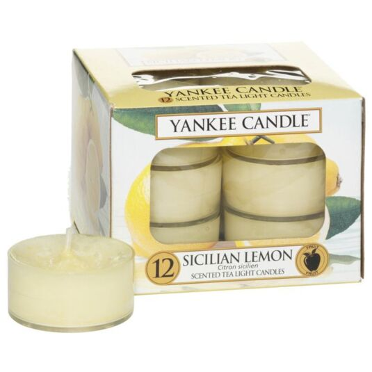 Sicilian Lemon Pack of 12 Tealights