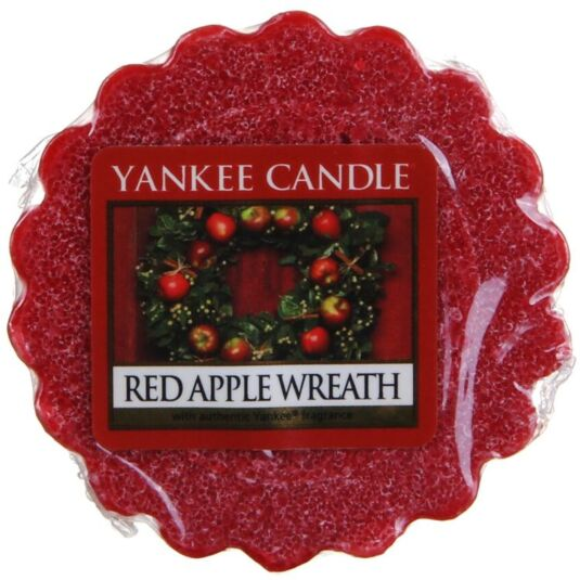 Red Apple Wreath Wax Melt Tart