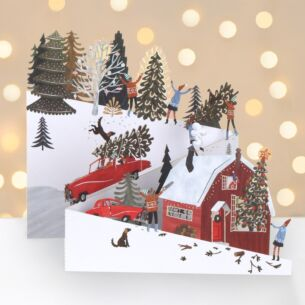 The Tree Zig Zag 3D Christmas Card