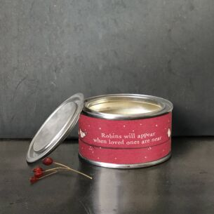 'Robins Will Appear' Christmas Candle
