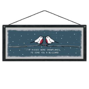 East of India 'If Kisses Were Snowflakes' Christmas Sign