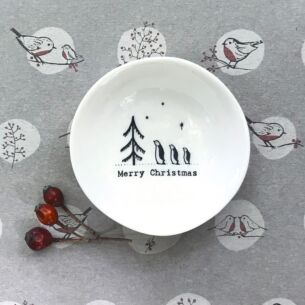 East of India 'Merry Christmas' Small Wobbly Bowl