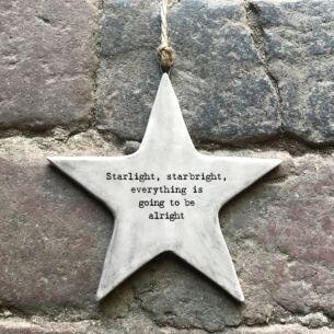 'Starlight, Starbright' Rustic Hanging Star