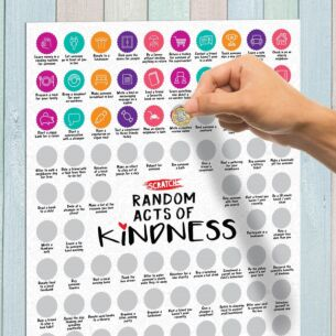 100 Random Act of Kindness A2 Scratch Poster