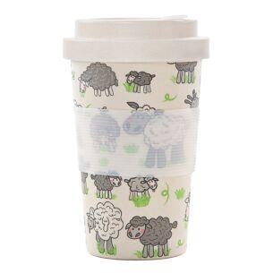 Cream Sheep Bamboo Travel Cup