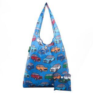 Blue Minis Foldaway Shopper Bag