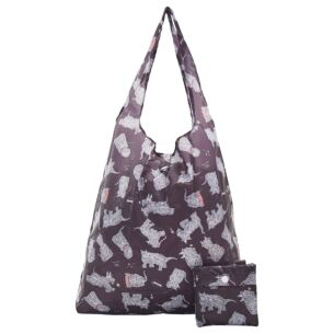 Black Scatty Scotty Dogs Recycled Foldaway Shopper Bag