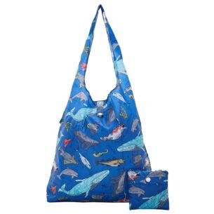 Blue Sea Creatures Foldaway Shopper Bag