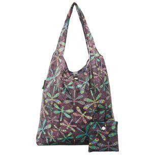 Dragonflies Recycled Foldaway Shopper Bag