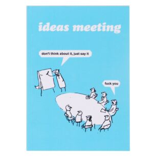 'Ideas Meeting' A6 Lined Notebook