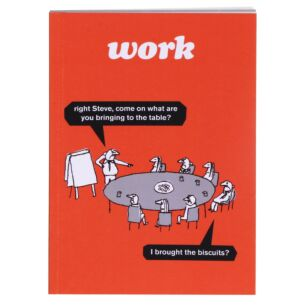 'Work Biscuits' A6 Lined Notebook