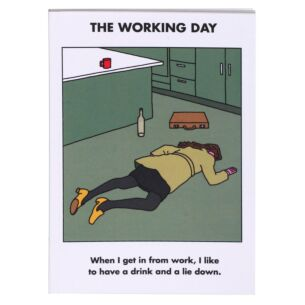'Working Day' A6 Lined Notebook