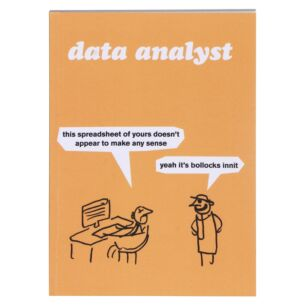 'Data Analyst' A6 Lined Notebook