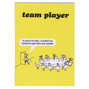 'Team Player' A6 Lined Notebook
