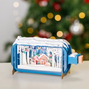 Gingerbread House Message In A Bottle Christmas Card