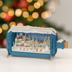 Christmas Villages Message In A Bottle Christmas Card