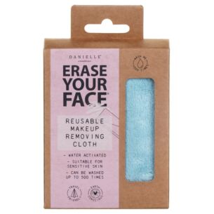 Pastel Blue Erase Your Face Reusable Makeup Removing Cloth