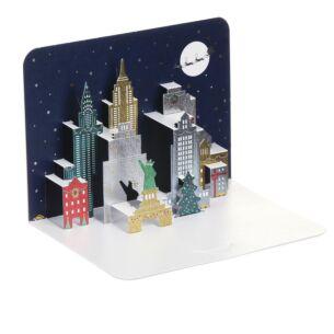 'New York at Night' 3D Christmas Card