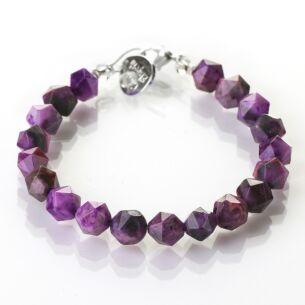 Violet Faceted Agate Bracelet