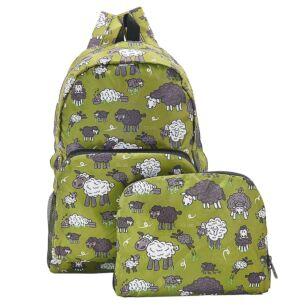 Green Sheep Recycled Foldaway Backpack