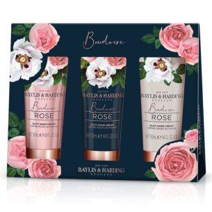 Boudoire Rose Set of 3 Hand Creams