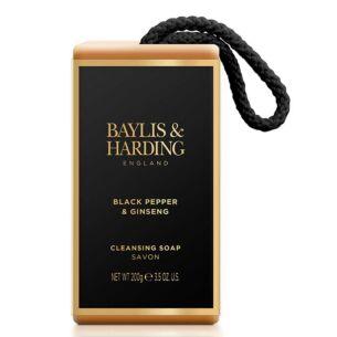 Men's Black Pepper & Ginseng Soap On A Rope