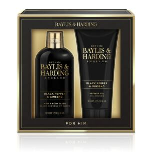 Baylis & Harding Men's Black Pepper & Ginseng Two Piece Gift Set