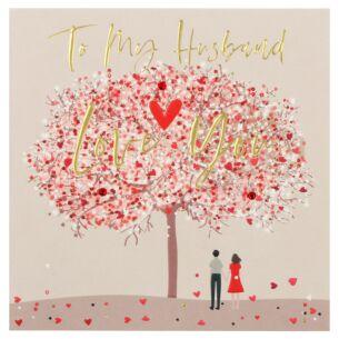 'Love You' Husband Valentine's Day Card