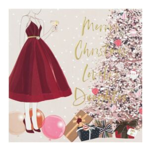 'Merry Christmas Lovely Daughter' Christmas Card