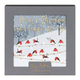 'Robins' Box of 8 Christmas Cards