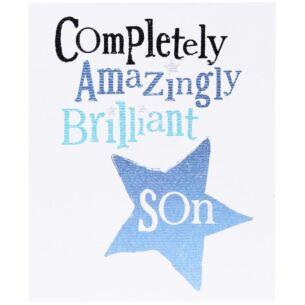 The Bright Side Amazingly, Brilliant Son Birthday Card
