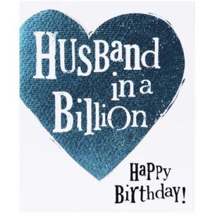 The Bright Side Husband In A Billion Birthday Card