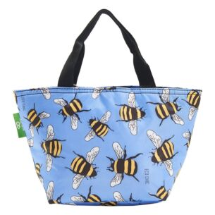 Blue Bumblebees Recycled Insulated Lunch Bag